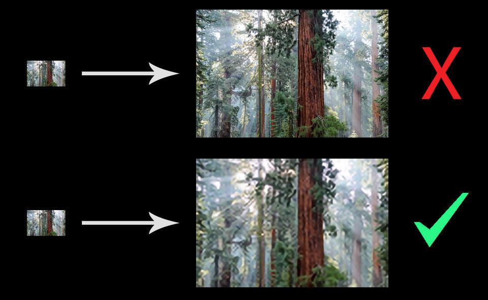 Làm thế nào để tăng độ phân giải của một hình ảnh